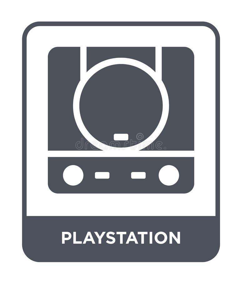 icône de playstation dans le style à la mode de conception icône de playstation d'isolement sur le fond blanc icône de vecteur de illustration stock
