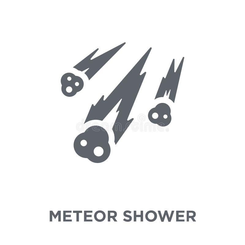 Icône de pluie de météores de collection d'astronomie illustration de vecteur