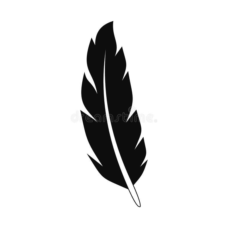 Icône de plume de paon, style simple illustration libre de droits