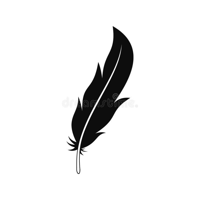 Icône de plume, style simple illustration de vecteur