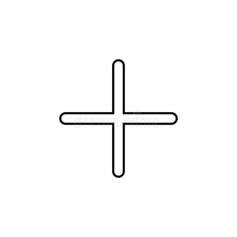 Icône de plus Ligne mince icône pour la conception de site Web et le développement, développement d'APP Graphisme de la meilleure illustration de vecteur