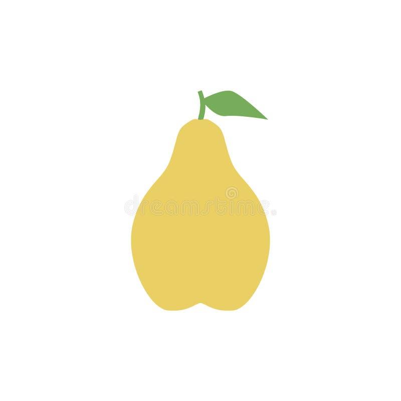 Icône de poire, conception simple, clipart (images graphiques) d'icône de poire illustration de vecteur