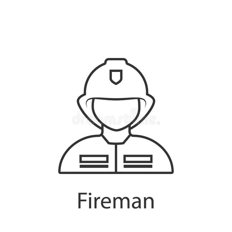 Icône de pompier Élément d'icône d'avatar de profession pour des applis mobiles de concept et de Web L'icône détaillée de pompier illustration stock