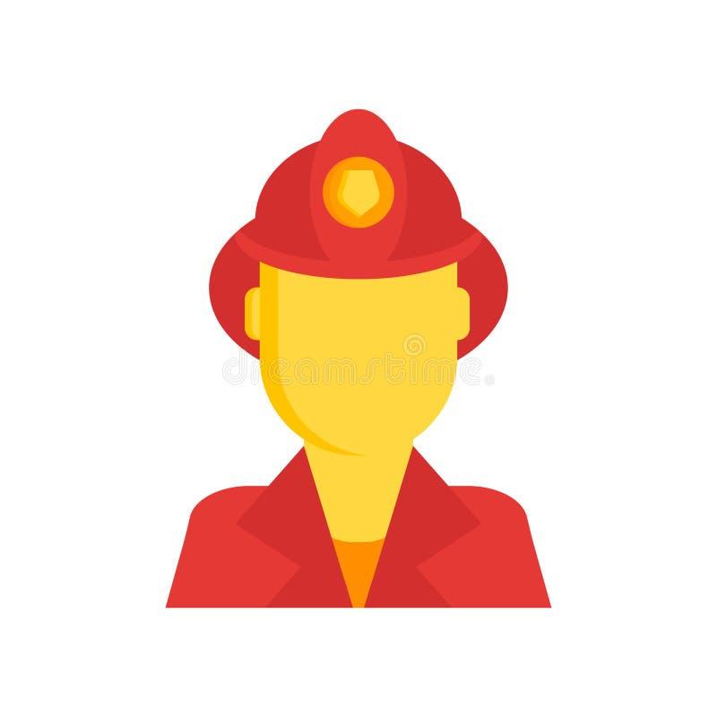 Icône de pompier d'isolement sur le fond blanc illustration libre de droits