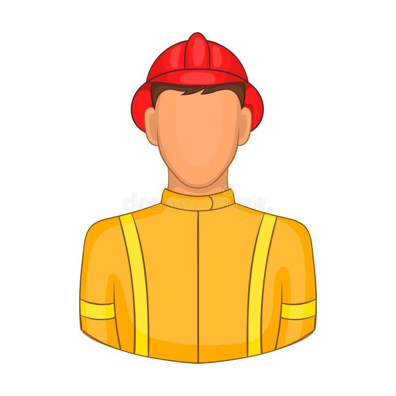 Icône de pompiers dans le style de bande dessinée illustration stock