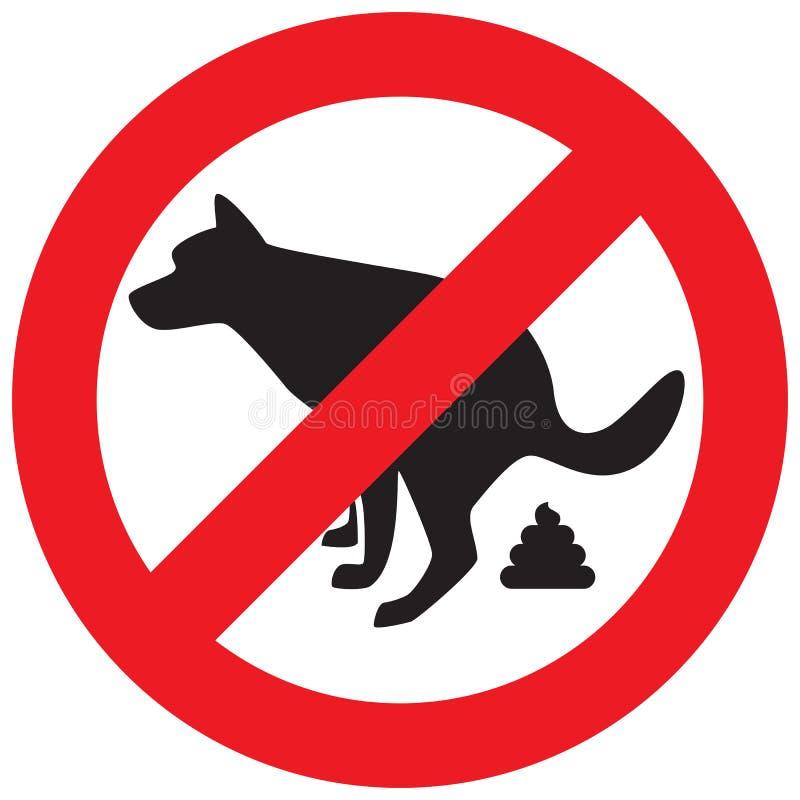 Icône de Pooping de chien illustration stock