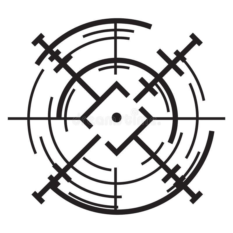 Icône de but de portée, style simple illustration de vecteur