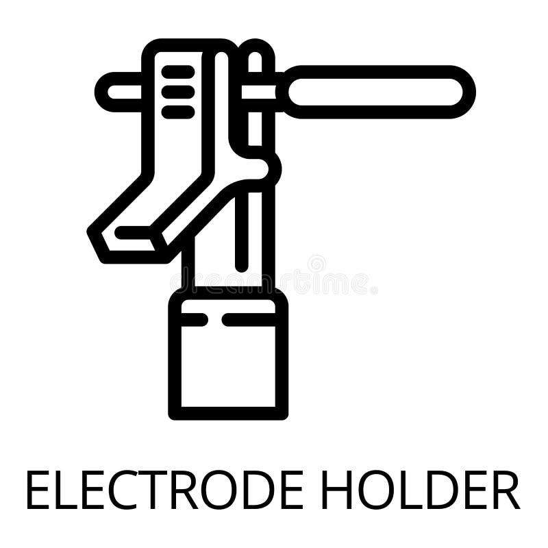 Icône de porte-électrode en métal, style d'ensemble illustration libre de droits