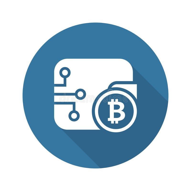 Icône de portefeuille de Bitcoin illustration stock