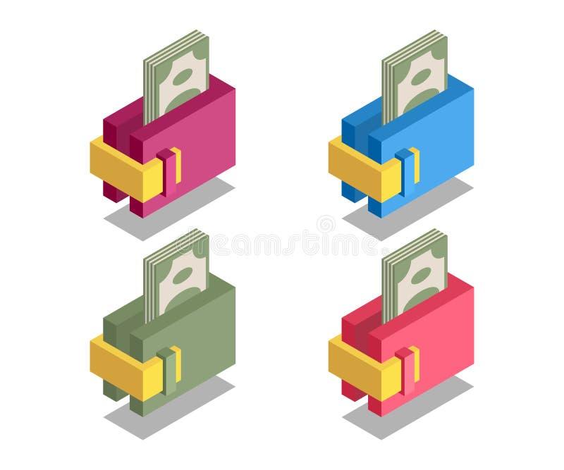 Icône de portefeuille, symbole de vecteur illustration de vecteur