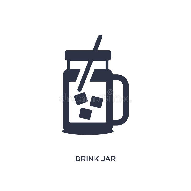 icône de pot de boissons sur le fond blanc Illustration simple d'élément de concept de Bistros et de restaurant illustration libre de droits