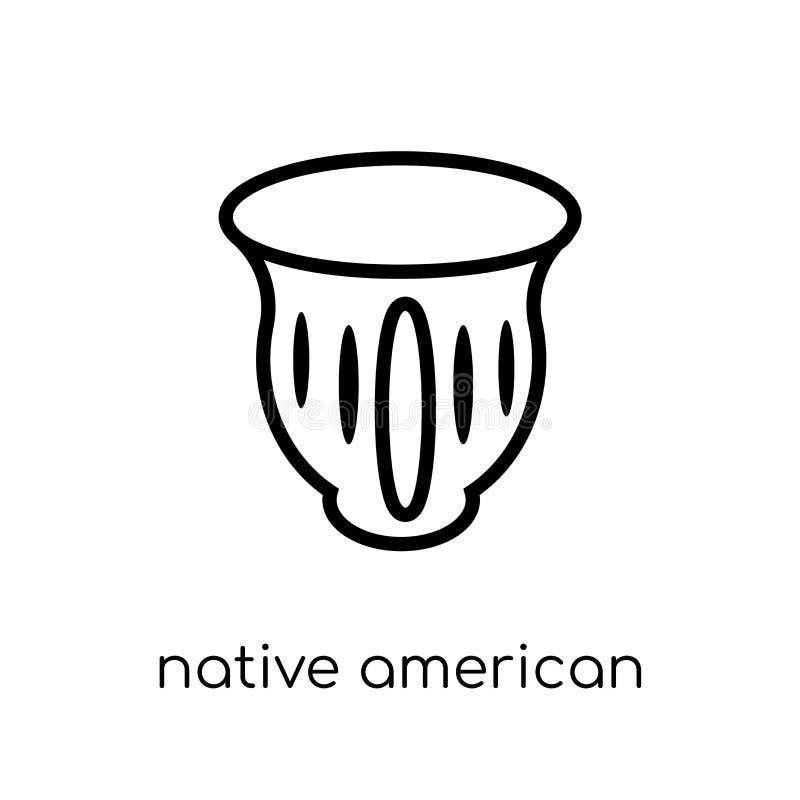 Icône de pot de natif américain de collec indigène américain de signaux illustration stock
