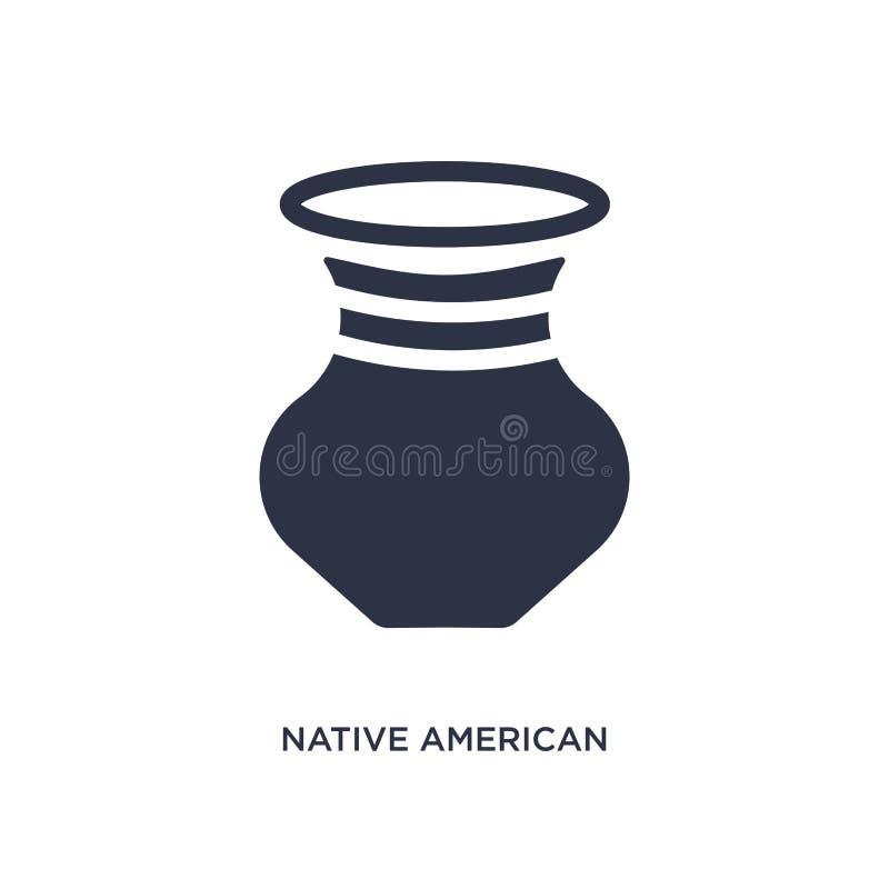 icône de pot de natif américain sur le fond blanc Illustration simple d'élément de concept de culture illustration stock