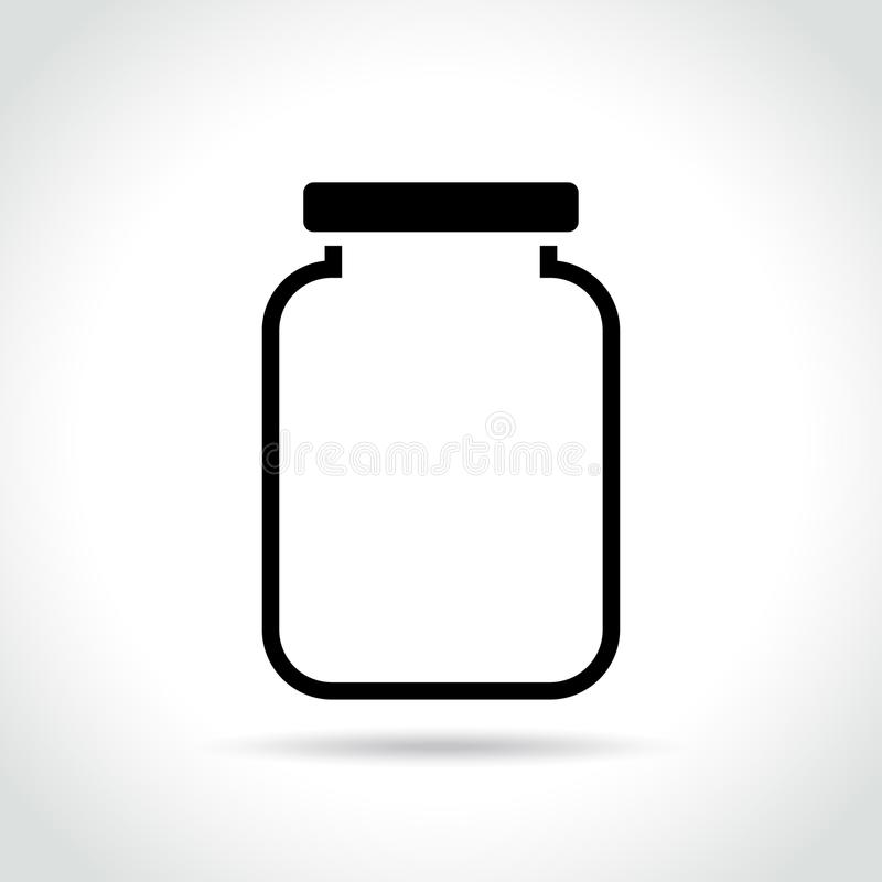 Icône de pot sur le fond blanc illustration stock