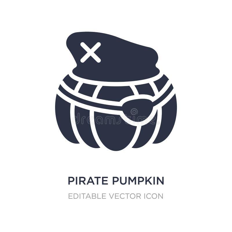 icône de potiron de pirate sur le fond blanc Illustration simple d'élément de l'autre concept illustration stock