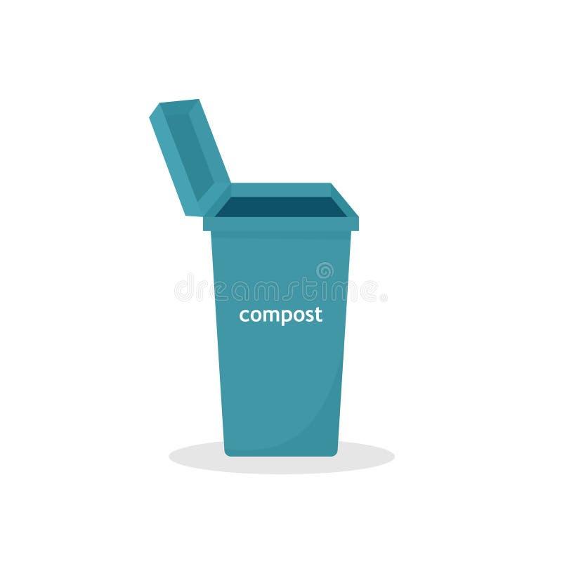 Icône de poubelle de compost illustration de vecteur