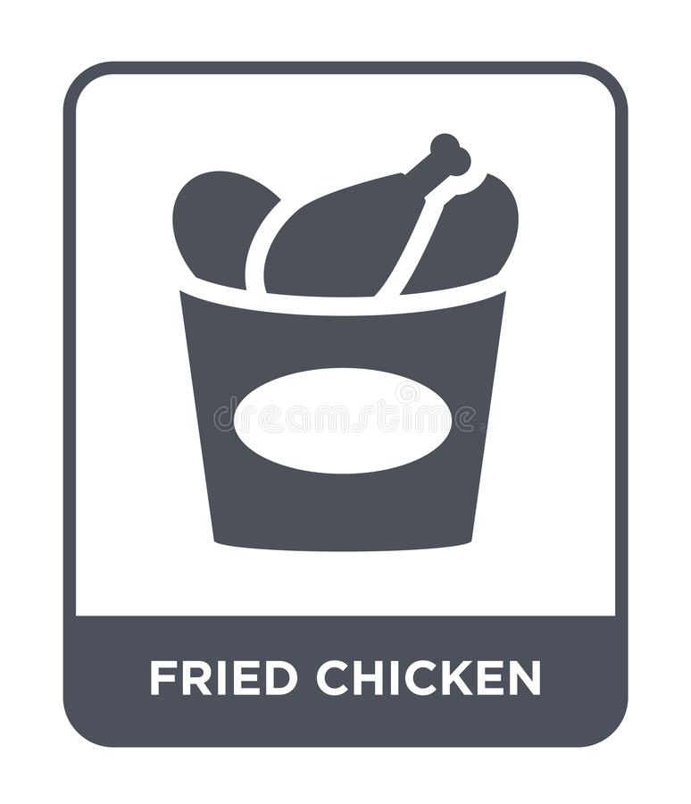 icône de poulet frit dans le style à la mode de conception icône de poulet frit d'isolement sur le fond blanc icône de vecteur de illustration libre de droits