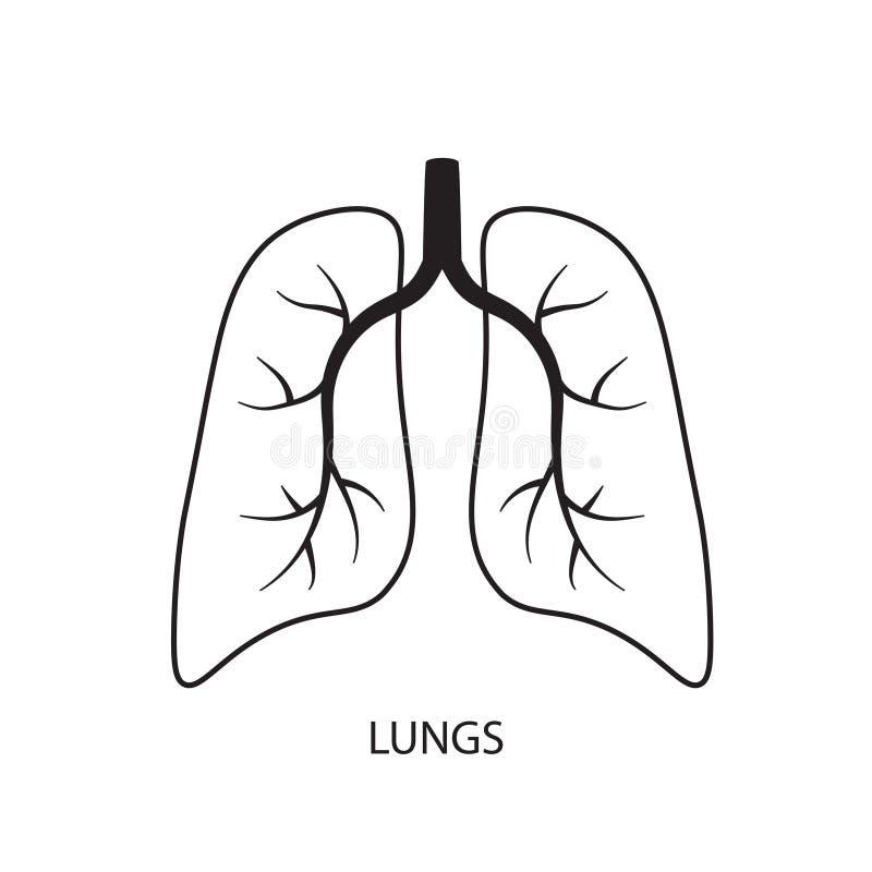 Icône de poumons illustration libre de droits