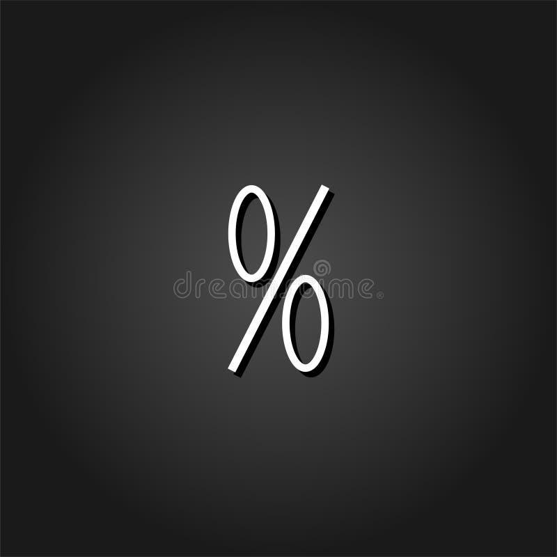 Icône de pour cent plate illustration de vecteur