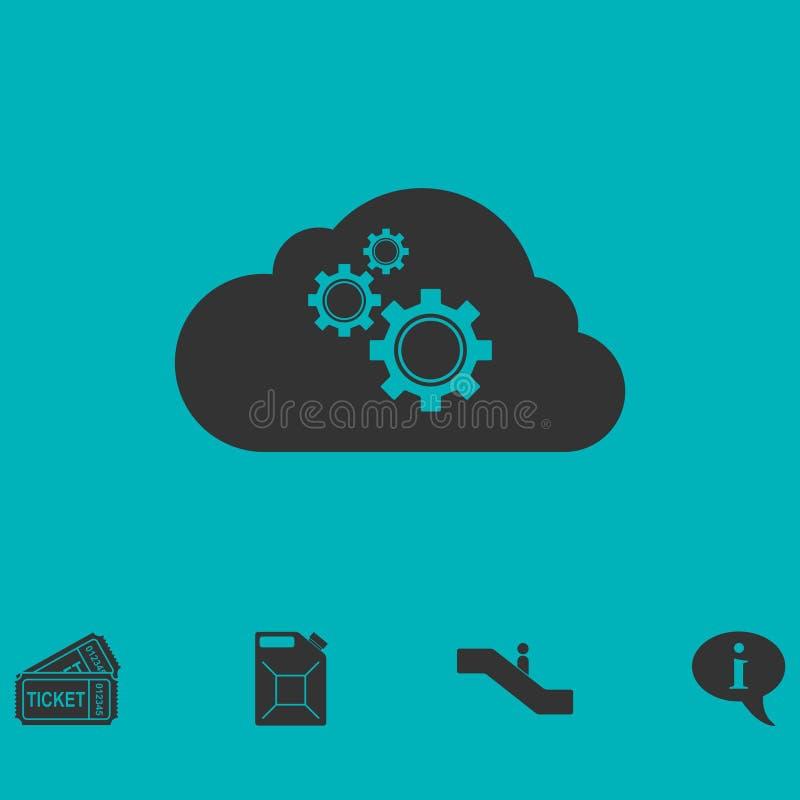 Icône de préférences de stockage de nuage à plat illustration libre de droits