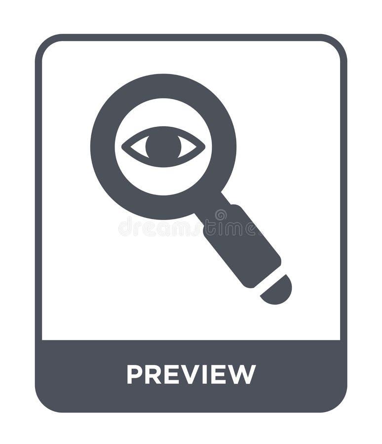 icône de prévision dans le style à la mode de conception icône de prévision d'isolement sur le fond blanc symbole plat simple et  illustration libre de droits