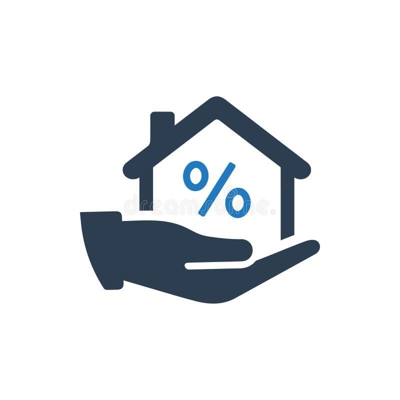 Icône de prêt immobilier illustration libre de droits