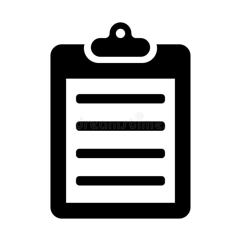Icône de presse-papiers illustration de vecteur