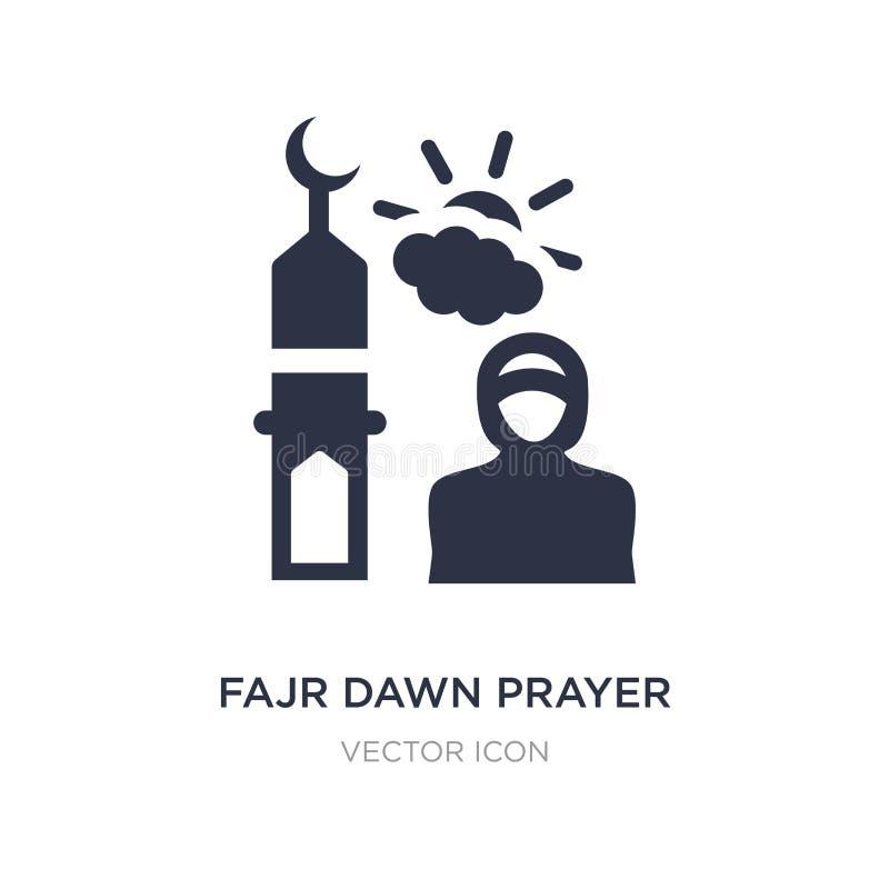 icône de prière d'aube de fajr sur le fond blanc Illustration simple d'élément de concept de religion illustration stock