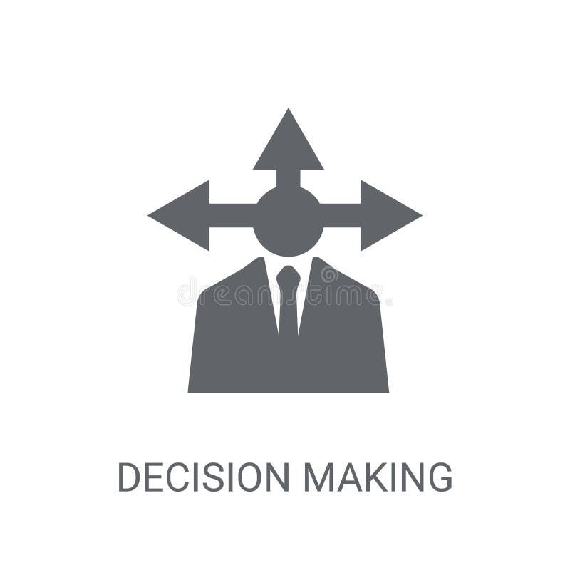 Icône de prise de décision Concept à la mode de logo de prise de décision sur le whi illustration de vecteur