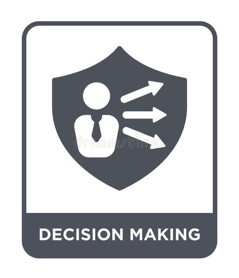 icône de prise de décision dans le style à la mode de conception icône de prise de décision d'isolement sur le fond blanc icône d illustration libre de droits