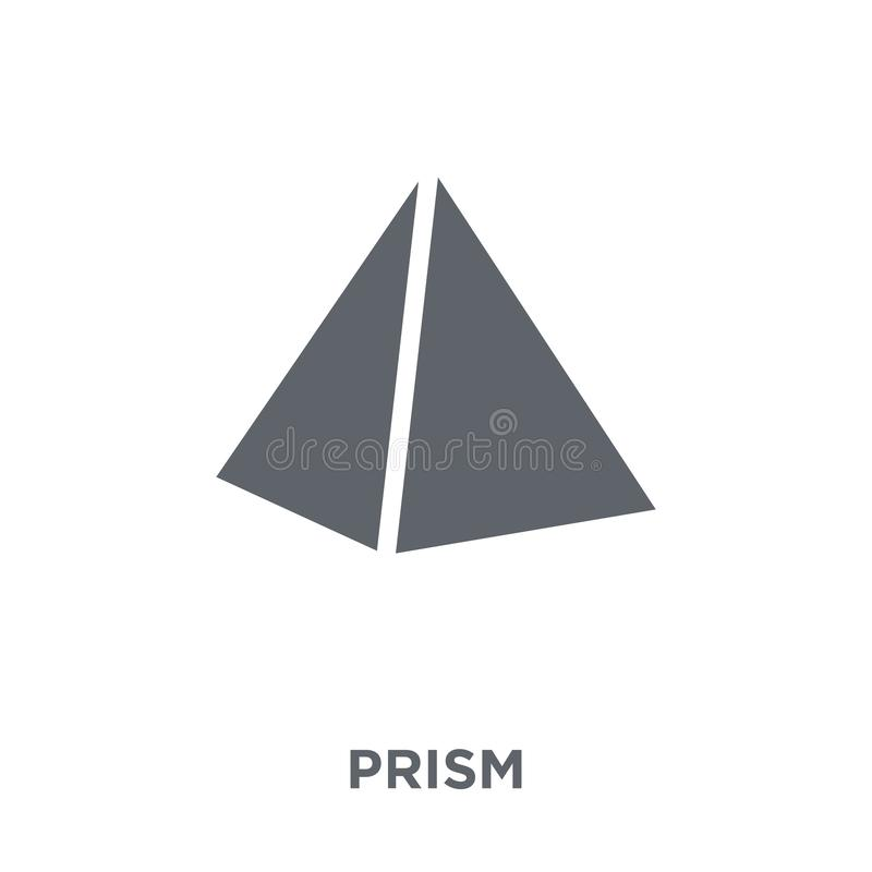 Icône de prisme de collection de la géométrie illustration de vecteur