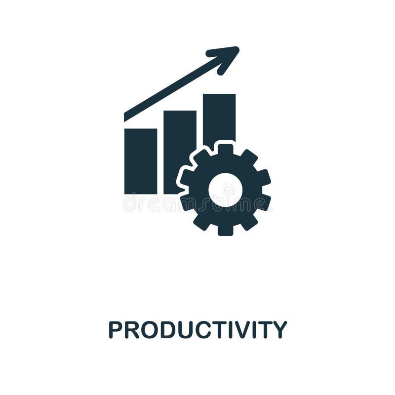 Icône de productivité Conception monochrome d'icône de style de collection d'icône de gestion des projets Ui Illustration d'icône illustration de vecteur