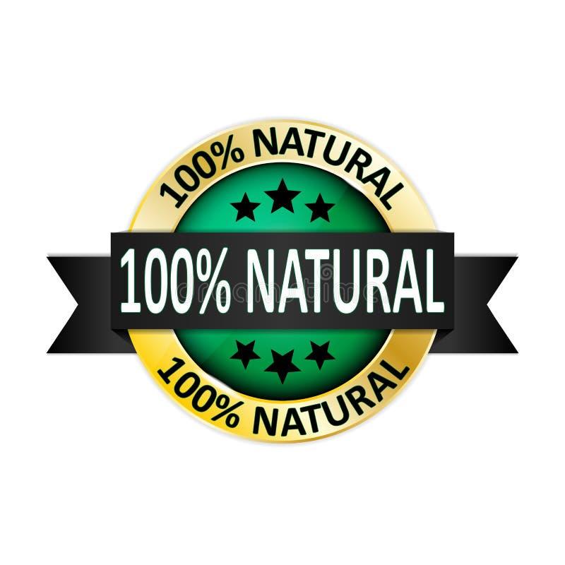 icône de produit naturel de 100 pour cent Vecteur du bouton EPS10 d'Internet illustration de vecteur