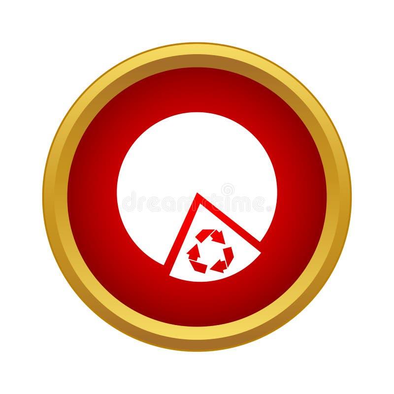 Icône de produit recyclable, style simple illustration libre de droits