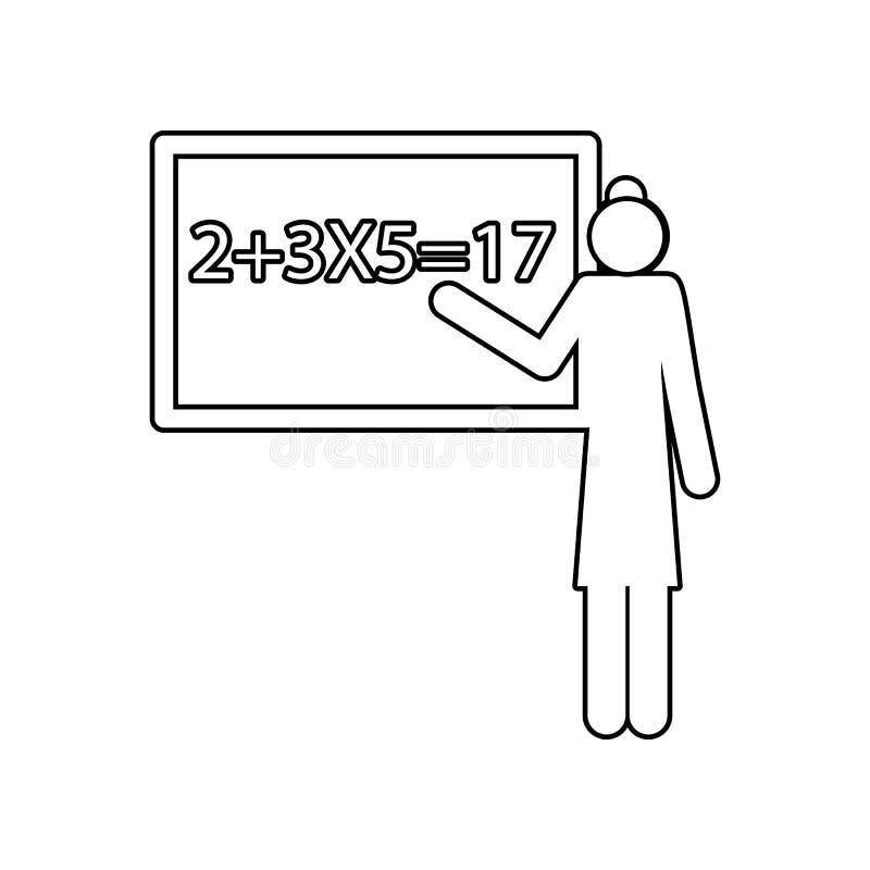Icône de professeur Élément de nouveau à école pour le concept et l'icône mobiles d'applis de Web Contour, ligne mince icône pour illustration libre de droits