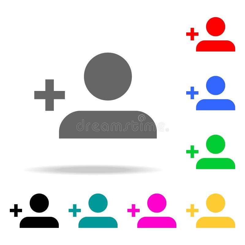Icône de profil Signe simple d'icône de Web Add Person Button Éléments dans les icônes colorées multi pour les apps mobiles de co illustration libre de droits