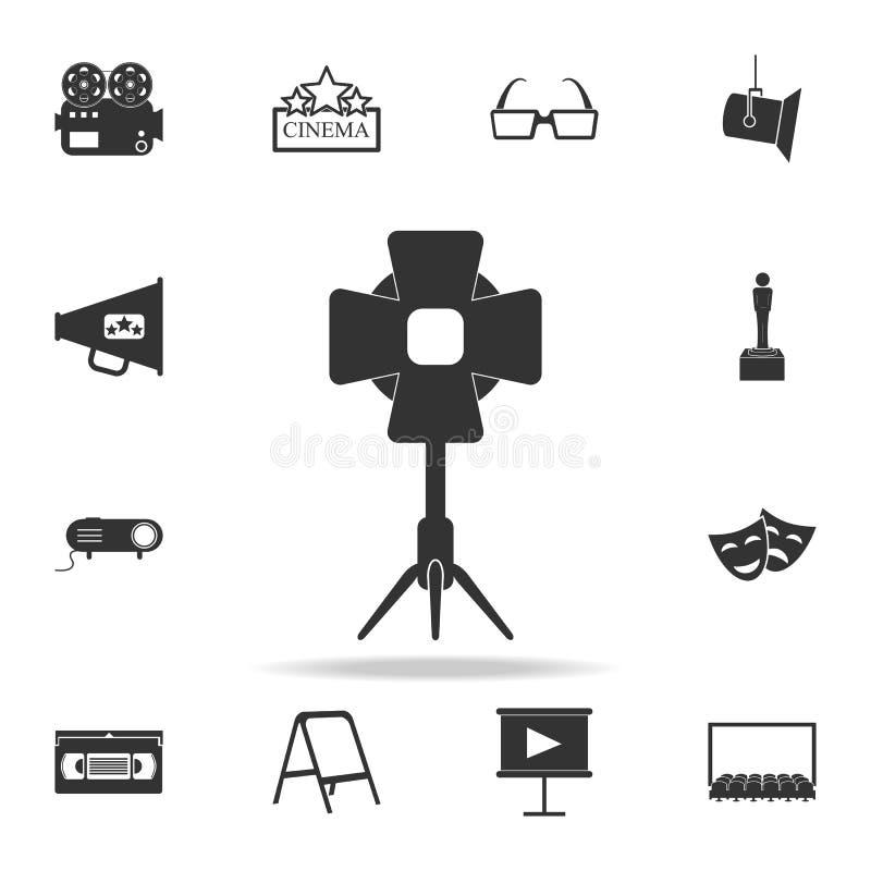 Icône de projecteur de studio Ensemble d'icônes d'élément de cinéma Conception graphique de qualité de la meilleure qualité Signe illustration stock