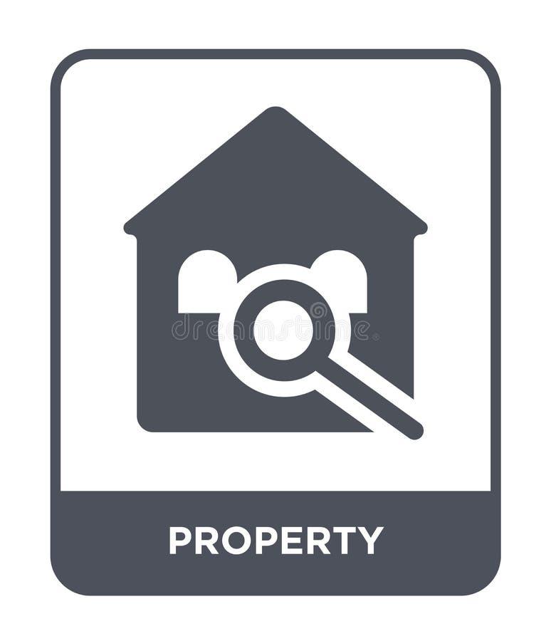 icône de propriété dans le style à la mode de conception Icône de propriété d'isolement sur le fond blanc appartement simple et m illustration libre de droits