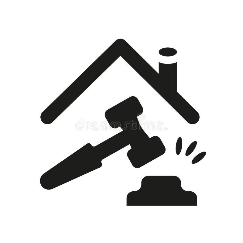 icône de propriété et de finances Logo à la mode de propriété et de finances concentré illustration libre de droits