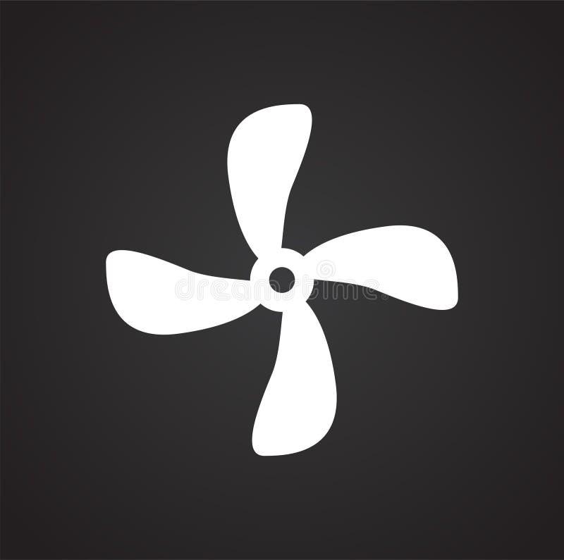 Icône de propulseur sur le fond pour le graphique et la conception web Signe simple de vecteur Symbole de concept d'Internet pour illustration libre de droits