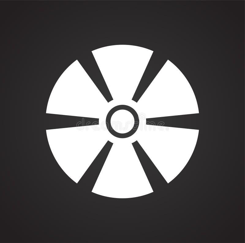 Icône de propulseur sur le fond pour le graphique et la conception web Signe simple de vecteur Symbole de concept d'Internet pour illustration de vecteur