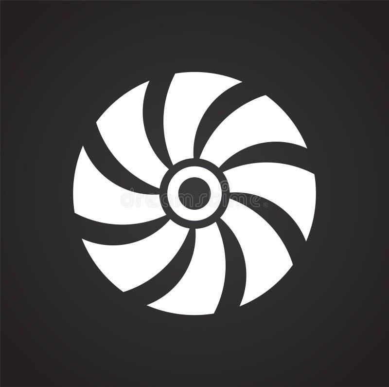 Icône de propulseur sur le fond pour le graphique et la conception web Signe simple de vecteur Symbole de concept d'Internet pour illustration stock