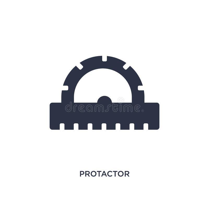 icône de protactor sur le fond blanc Illustration simple d'élément de concept de mesure illustration stock