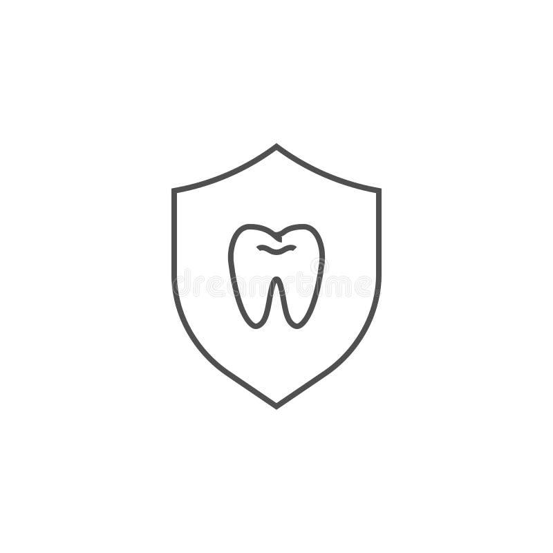 Icône de protection de dents illustration libre de droits