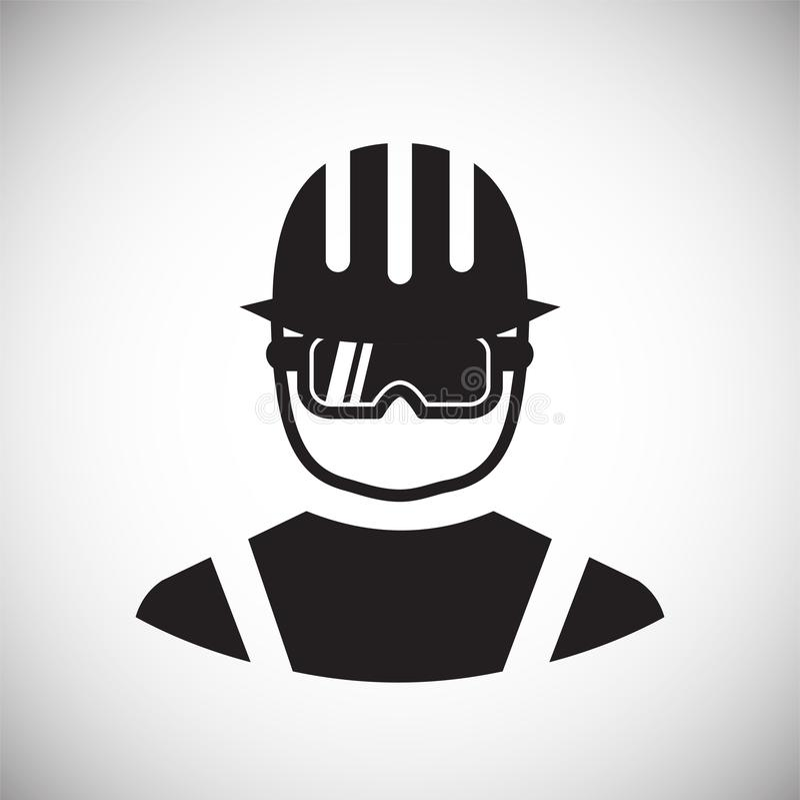 Icône de protection oculaire de sécurité sur le fond blanc pour le graphique et la conception web, signe simple moderne de vecteu illustration de vecteur