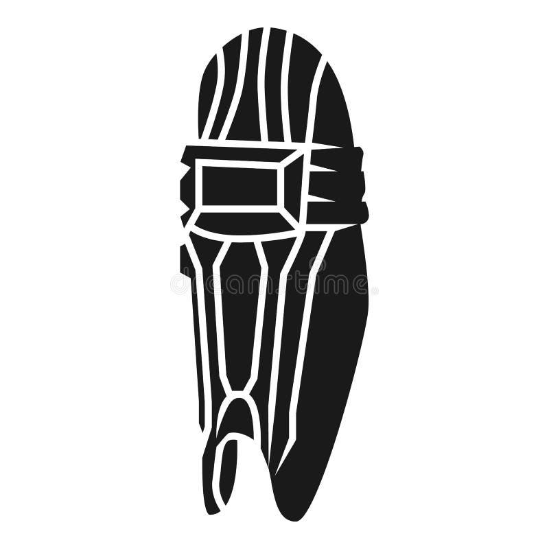 Icône de protection de pied de cricket, style simple illustration libre de droits