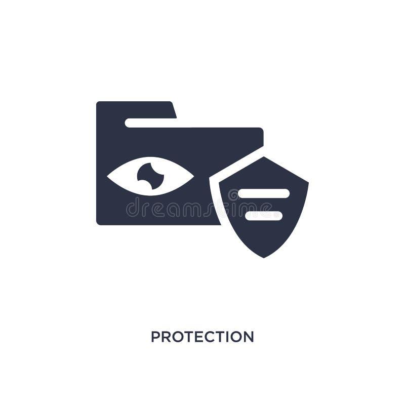 icône de protection sur le fond blanc Illustration simple d'élément de concept de gdpr illustration stock