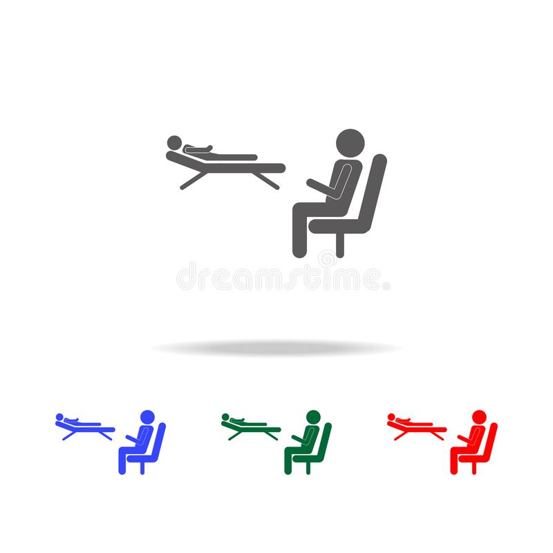 icône de psychologue Éléments de profession de personnes dans les icônes colorées multi Icône de la meilleure qualité de concepti illustration libre de droits