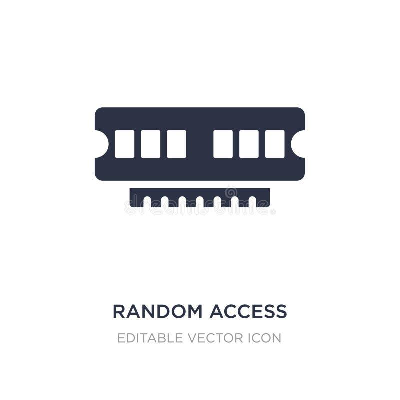 icône de puce de mémoire à accès sélectif sur le fond blanc Illustration simple d'élément de concept d'ordinateur illustration stock