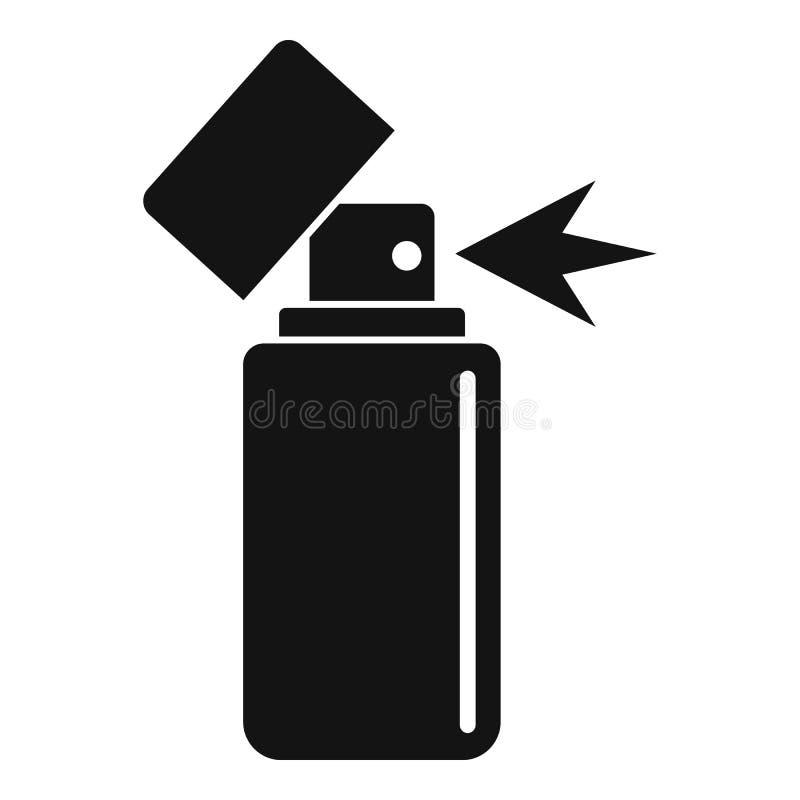 Icône de pulvérisation déodorante propre, style simple illustration stock